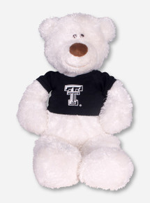 Texas Tech Large White Bear with Black Double T T-Shirt