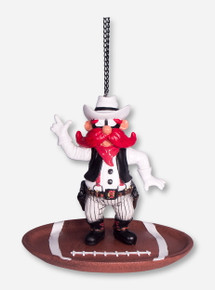 Texas Tech Raider Red on Football Bird Feeder