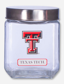 Texas Tech Double T Glass Canister