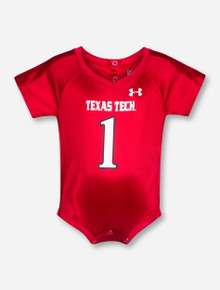 Under Armour Texas Tech Replica #1 INFANT One Piece Jersey