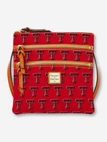 Dooney & Bourke Texas Tech Double T Triple Zip Crossbody