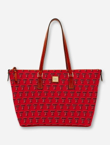 Dooney & Bourke Texas Tech Double T Zip Top Shopper