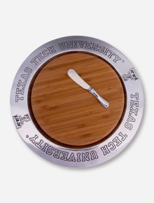 Wilton Armetale Texas Tech Wood Cheeseboard and Metal Plate