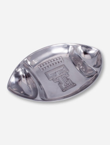 Wilton Armetale Texas Tech Metal Football Chip and Dip Platter