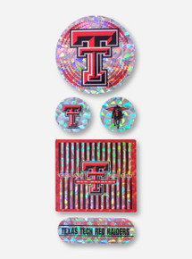 Assorted Double T Prismatic Decals