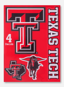 4 Assorted Texas Tech Multi-Use Decal