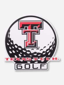 Texas Tech Golf Ball Decal