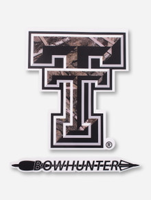 Texas Tech Camo Double T Bowhunter Decal