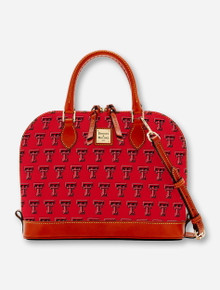Dooney & Bourke Texas Tech Double T Zip Zip Satchel