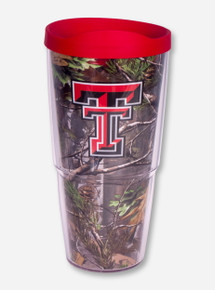 Texas Tech Double T with RealTree Camo Tervis Travel Tumbler