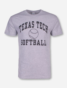 Texas Tech Softball Heather-Grey T-Shirt