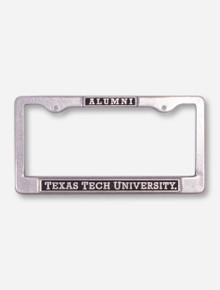 Texas Tech Alumni on Black and Steel License Plate Frame