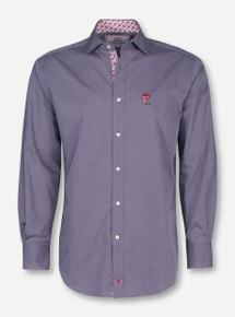 Thomas Dean Texas Tech Charcoal Dress Shirt