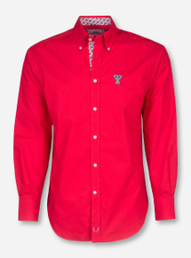 Thomas Dean Texas Tech Red Dress Shirt