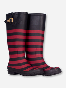 LillyBee Texas Tech Red and Black Rainboots