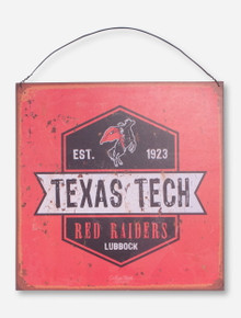 """Texas Tech """"Oil Can"""" Tin Sign"""
