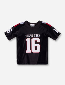 Texas Tech #16 TODDLER Black Jersey