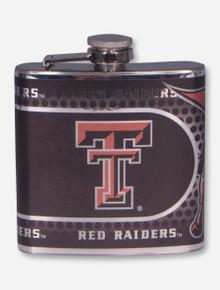 Texas Tech Black Metallic Graphics Wrap Flask