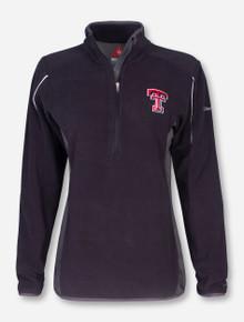"""Texas Tech Columbia """"Crosslite II"""" Women's Black Half Zip Fleece"""