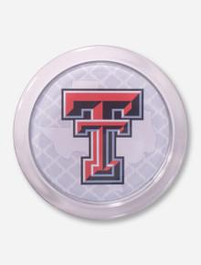 Texas Tech Lone Star Pride on White Lattice Coaster