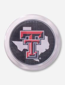 Texas Tech Lone Star Pride on Black Crocodile Coaster