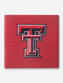 Texas Tech Double T on Red Coaster
