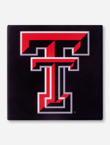 Texas Tech Double T on Black Trivet