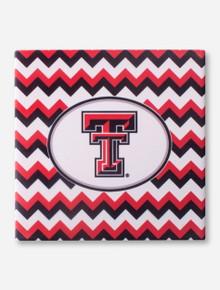 Texas Tech Double T on Chevron Trivet