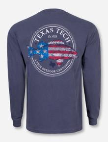 American Fish Denim Blue Long Sleeve - Texas Tech