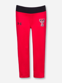 Under Armour Texas Tech Double T on Red KIDS Leggings