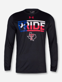 "Under Armour Texas Tech ""Pride Block"" on Black Long Sleeve"