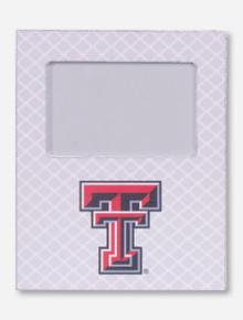 Texas Tech Double T on White Lattice Frame