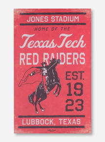 Vintage Texas Tech Red Raiders Red Canvas