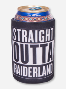 Straight Outta Raiderland Black Koozie - Texas Tech