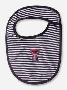 Texas Tech Double T Black and White Striped INFANT Bib