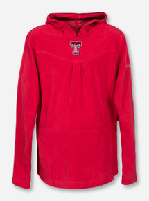 "Columbia Texas Tech ""Glacial"" YOUTH Fleece Hooded Pullover"