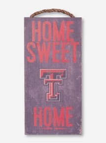 Home Sweet Home Distressed Grey Sign - Texas Tech