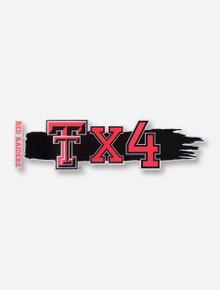 Texas Tech Double T x 4 Vinyl Graphic