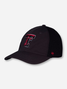 47 Brand Texas Tech Double T Mesh Black Stretch Fit Cap