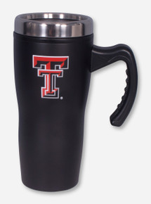 Texas Tech Double T Black Matte Stealth Mug