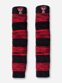Texas Tech Double T Red and Black Leg Warmers