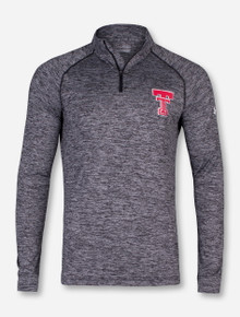 """Under Armour Texas Tech """"Throwback"""" Twisted Carbon Quarter Zip with Black Zipper"""