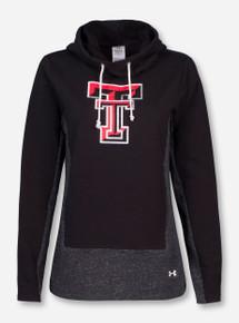 Under Armour Texas Tech Double T Cowl Neck Women's Black Hoodie