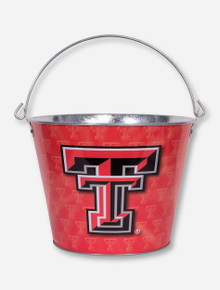 Texas Tech Double T Tin Pail