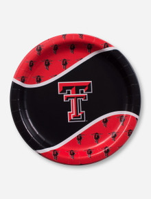 Texas Tech Double T and Masked Rider Paper Plates