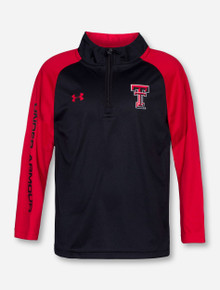 Under Armour Texas Tech Double T TODDLER Red and Black Quarter Zip