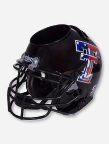 Texas Tech Limited Edition Flag Double T on Black Helmet Desk Caddy