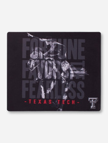 Fortune Favors the Fearless on Black Mouse Pad