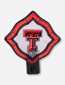 Texas Tech Double T Glass Diamond Nightlight