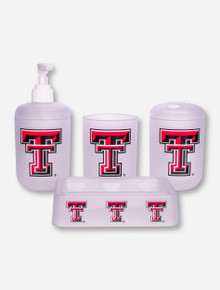 Texas Tech Double T 4 Piece Bathroom Set